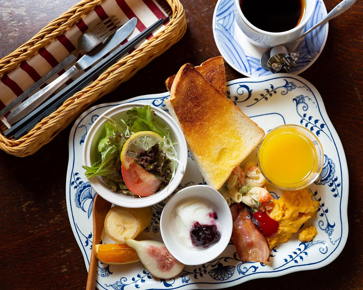 手作りの朝食(洋食)